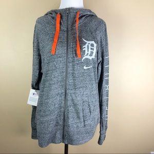 Nike Heather Grey Full Zip Tigers Hoodie